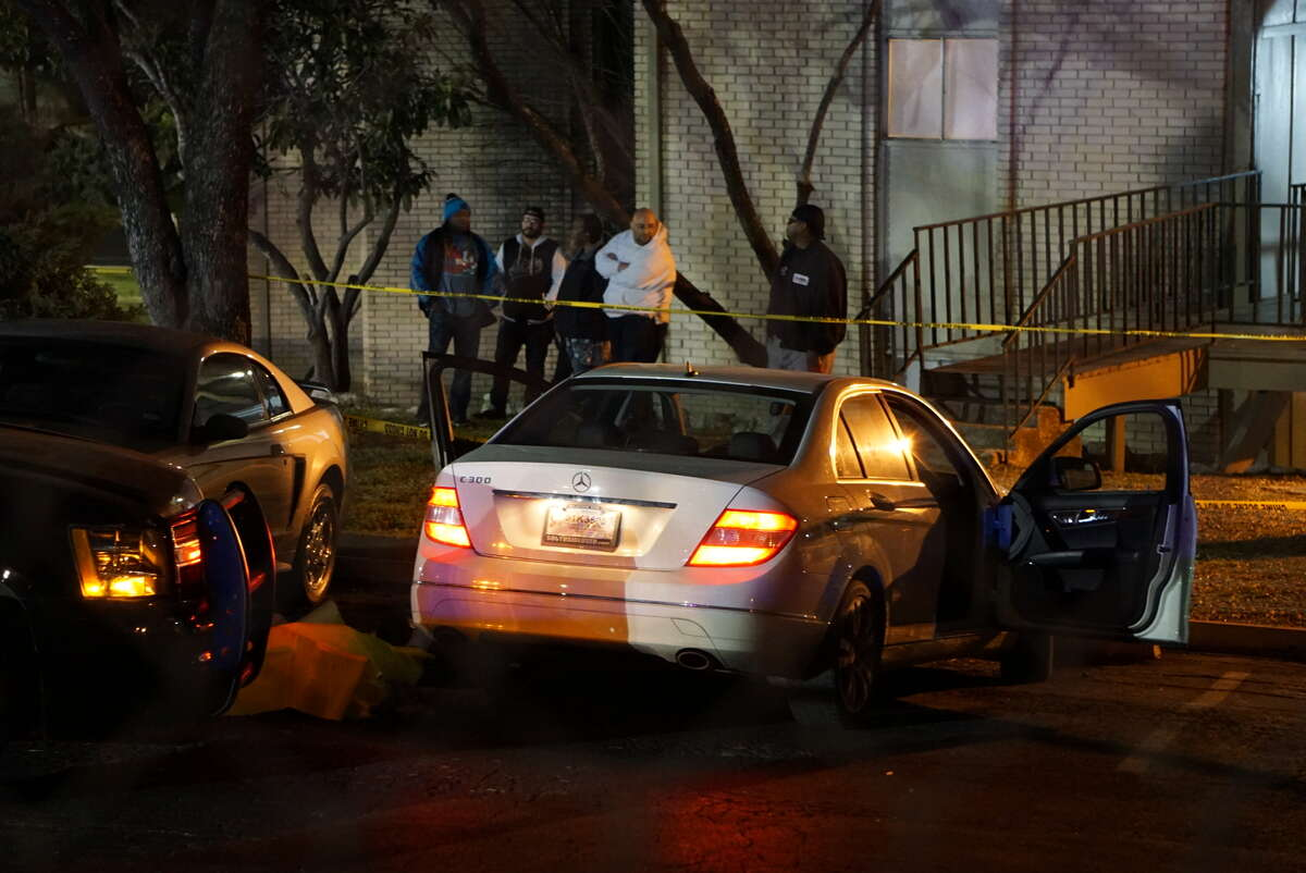 An SAPD officer was put on administrative leave after allegedly shooting a man in the upper torso on Friday Feb. 4, 2016 at the Wood Hollow Apartments.