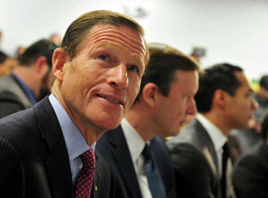 U.S. Sen. Richard Blumenthal in Bridgeport, Conn. on January 15, 2016. Photo: Christian Abraham / Hearst Connecticut Media / Connecticut Post