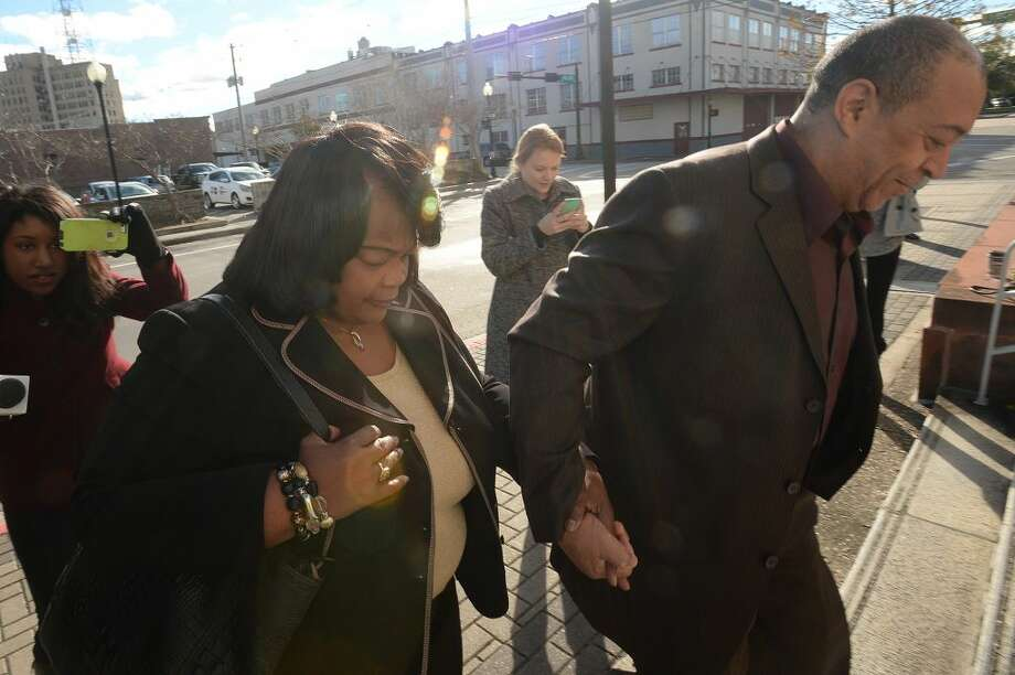 Former BISD assistant superintendent Patricia Lambert enters the Jack Brooks Federal Courthouse on Monday, Dec. 28, 2015, for a change of plea hearing. Lambert faces federal charges of conspiracy, embezzlement and fraud. Photo taken Monday, December 28, 2015 Guiseppe Barranco/The Enterprise Photo: Guiseppe Barranco/The Enterprise