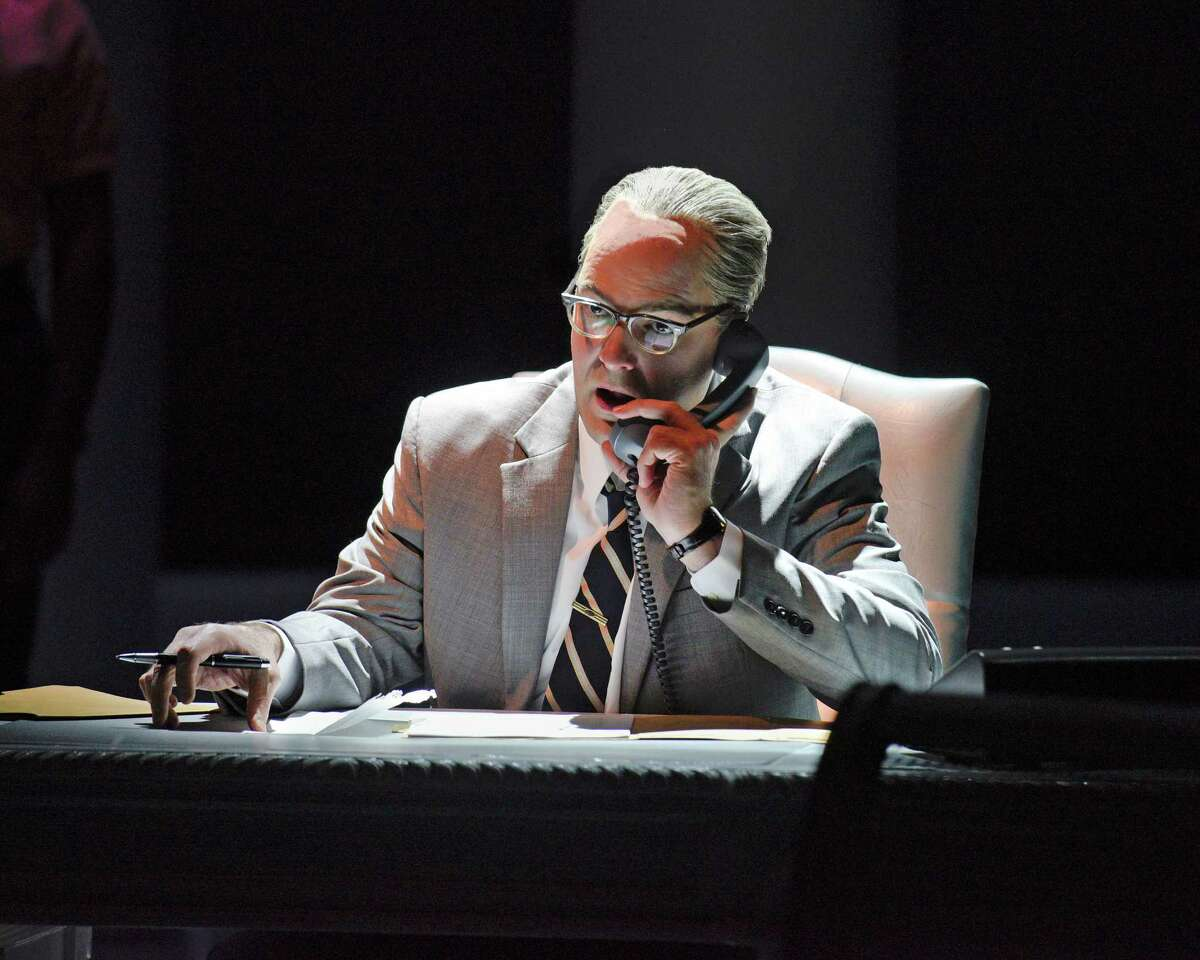 "Brandon Potter stars as President Lyndon Johnson in Robert Schenkkan's Tony-winning ""All the Way"" at the Alley Theatre."