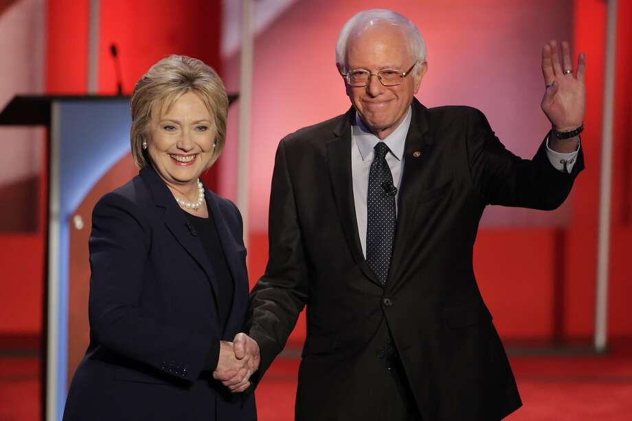 Democratic presidential candidates Hillary Clinton and Sen. Bernie Sanders. Photo: David Goldman, Associated Press