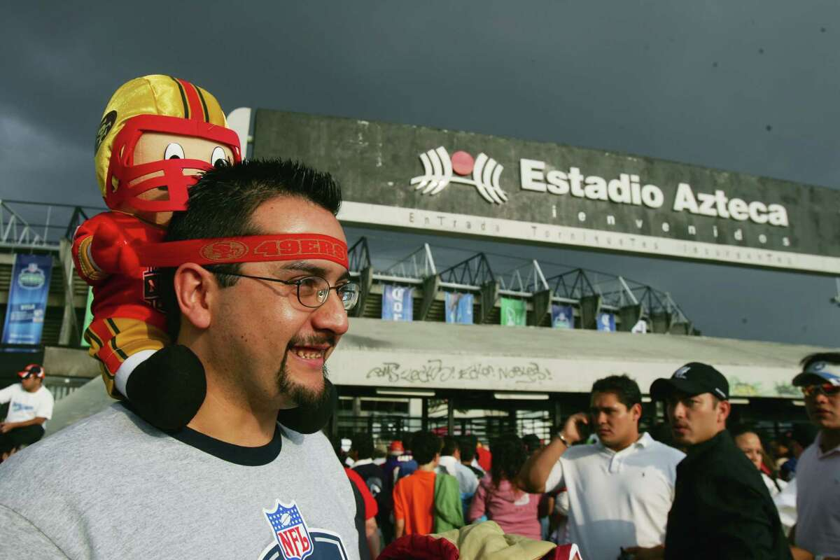 MEXICO CITY - OCTOBER 2: A fan stands outside Estadio Azteca before the Arizona Cardinals game against the San Francisco 49ers on October 2, 2005 in Mexico City, Mexico. The Cards defeated the Niners 31-14.