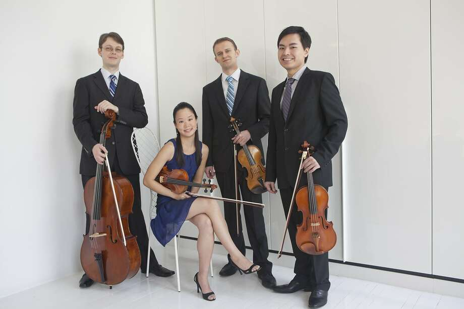 The Amphion String Quartet performs Friday night, Feb. 19. Photo: Janette Beckman