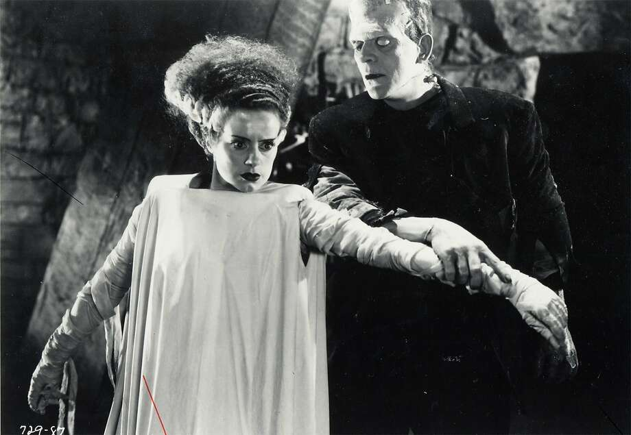 "Elsa Lanchester and Boris Karloff star in 1935's ""The Bride of Frankenstein"" Karloff also starred as the monster in 1931's ""Frankenstein."" Photo: Courtesy Photo, SFC"