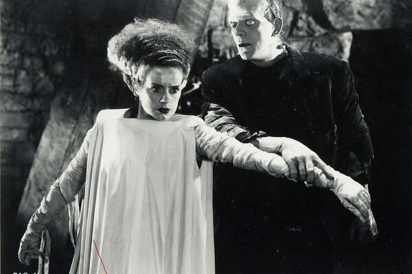 "Elsa Lanchester and Boris Karloff star in 1935's ""The Bride of Frankenstein"" Karloff also starred as the monster in 1931's ""Frankenstein."""