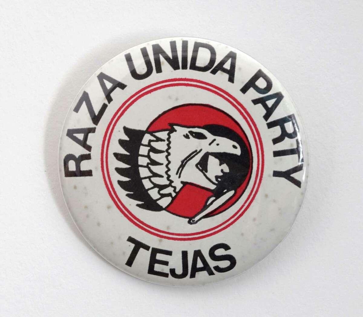 La Raza Unida Party Paraphernalia, 1970s Courtesy Raza Unida Party Records, Nettie Lee Benson Latin American Collection, The University of Texas at Austin