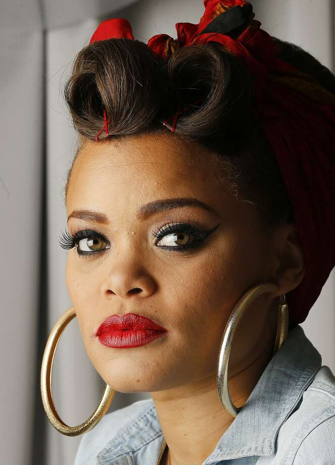 """In this Jan. 24, 2016 photo, recording artist Andra Day poses for a portrait in Atlanta. The 31-year-old soulful singer is nominated for two Grammys for Best R&B Album for her debut album """"Cheers to the Fall"""" and her standout single """"Rise Up,"""" which landed a nod for Best R&B performance. (AP Photo/John Bazemore) Photo: John Bazemore, Associated Press"""