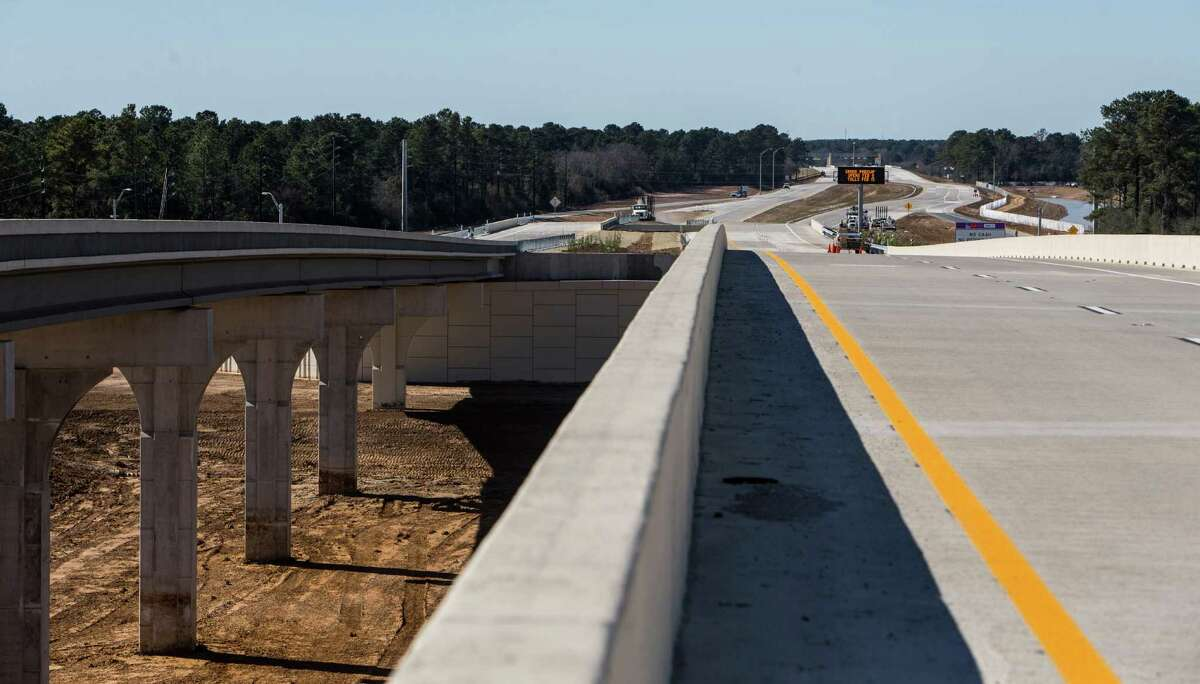 A section of the Grand Parkway just west of Texas 249 is shown on Jan. 29. The new sections of the parkway connecting the Cypress, Tomball and The Woodlands areas opened Feb. 6.