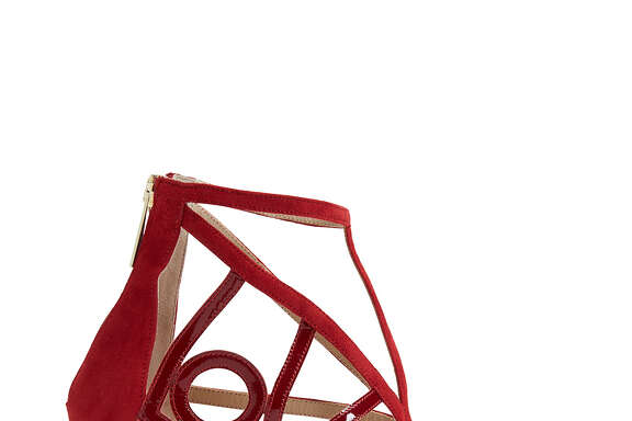 VALENTINE'S DAY GIFT GUIDE: Brand: Tamara Mellon  Style: Love Sandals in Red  Price: $895.00  Retailer: www.tamaramellon.com