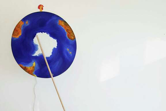 """Paul Kittelson's sculpture """"Falling Skies"""" is on view at Devin Borden Gallery through Feb. 22."""