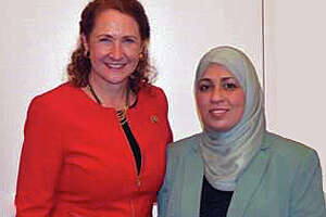 Esty takes recent Newtown acquaintance to Washington prayer breakfast - Photo