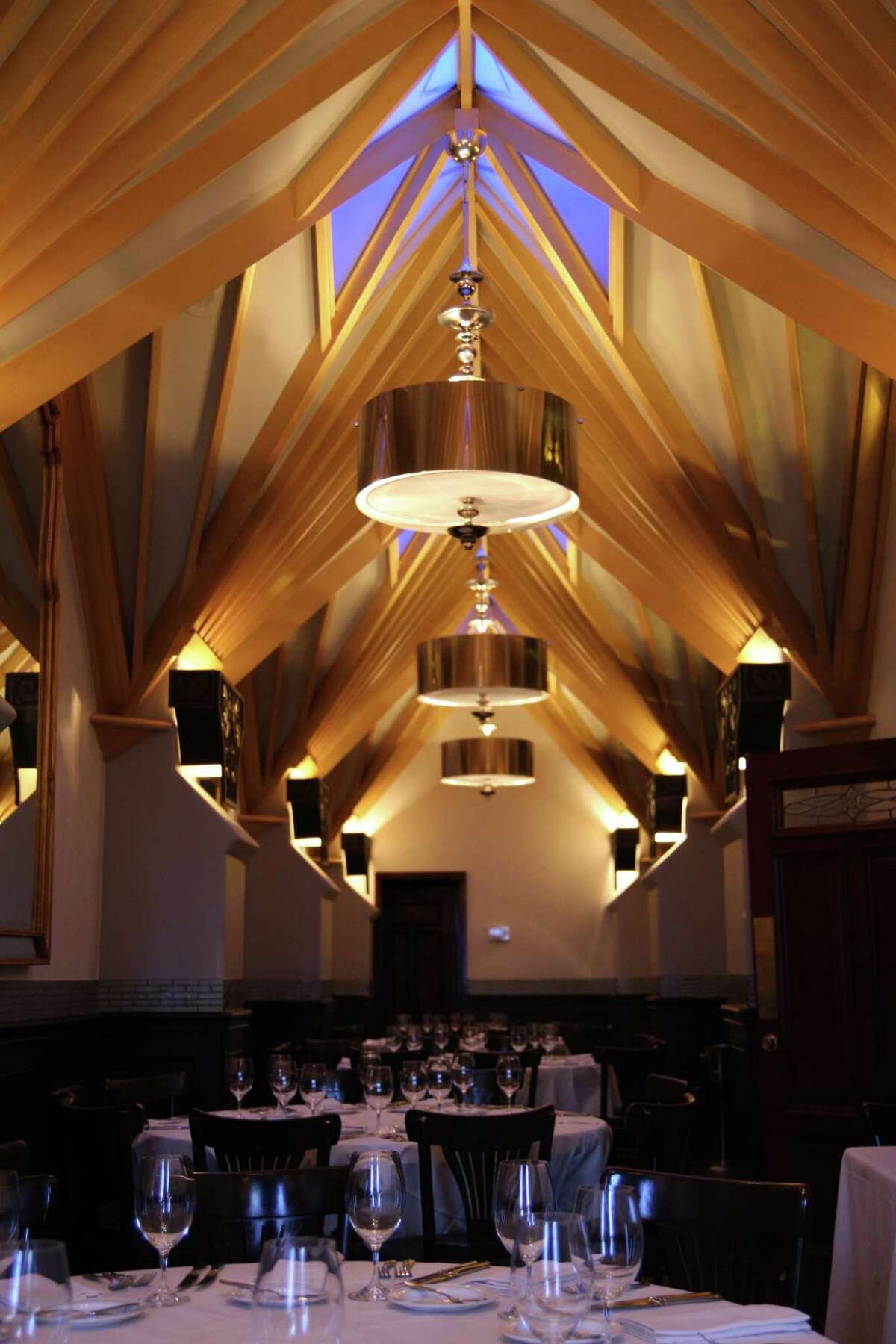 Mark's celebrated ceiling, with its graceful vaulting that was lit to look golden and glowing at night, could possibly become a grid installation that would allow changes to the look, said One Fifth's Floyd.