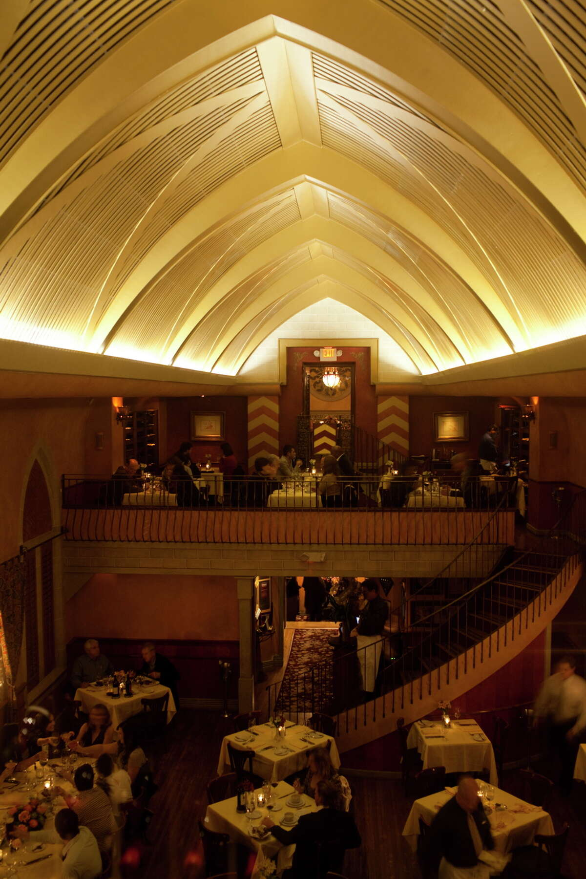 Housed in a renovated 1920s church, Mark's distinctively ecclesiastical, Old World space was considered one of Houston's most romantic restaurants. For One Fifth, co-owner Kevin Floyd said they'll lighten and brighten the interior by uncovering windows and installing clean, modern fixtures to replace some of the old-fashioned hardware. Faux stonework will go; any original stone will remain. The famous balcony, up a curved open staircase, will either be used for private events or an extension of a la carte dining.