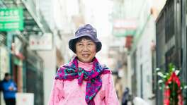 "Julie  Fong is among the residents of San Francisco's Chinatown who were photographed for the exhibit ""Chinatown Pretty"" at 41 Ross."