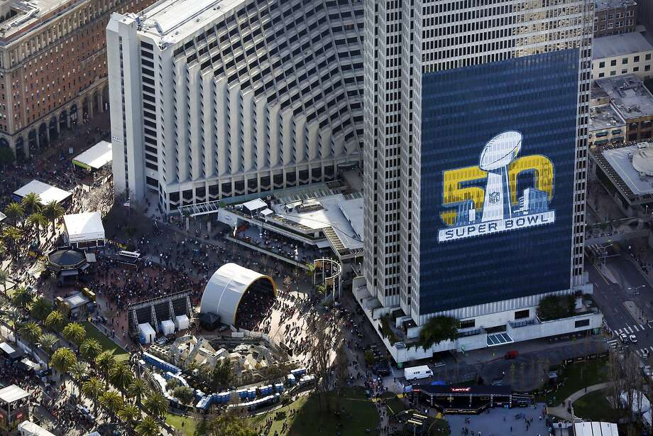 Super Bowl City is seen along the Embarcadero in San Francisco, CA Thursday, February 5, 2016. Photo: Michael Short, Special To The Chronicle