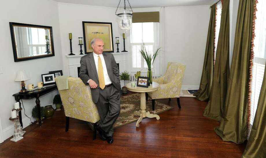 """Ridgefield First Selectman Rudy Marconi in the room he calls """"the parlor"""", in his Main Street home in Ridgefield, Conn. Marconi is a Democratic gubernatorial candidate. Photo: Carol Kaliff / The News-Times"""