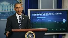 President Barack Obama discusses the latest unemployment rate Friday. The Labor Department announced 151,000 jobs were added by U.S. employers in January, lowering the unemployment rate to 4.9 percent.