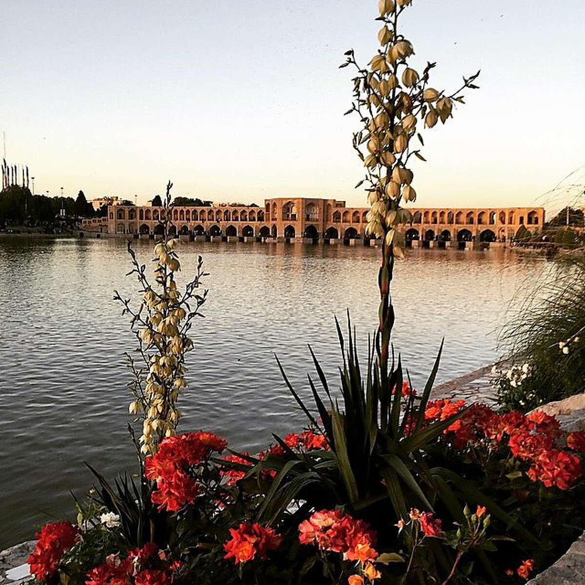 The Zayanderud River in Esfahan, the largest river in central Iran, features several historical bridges spanning it.