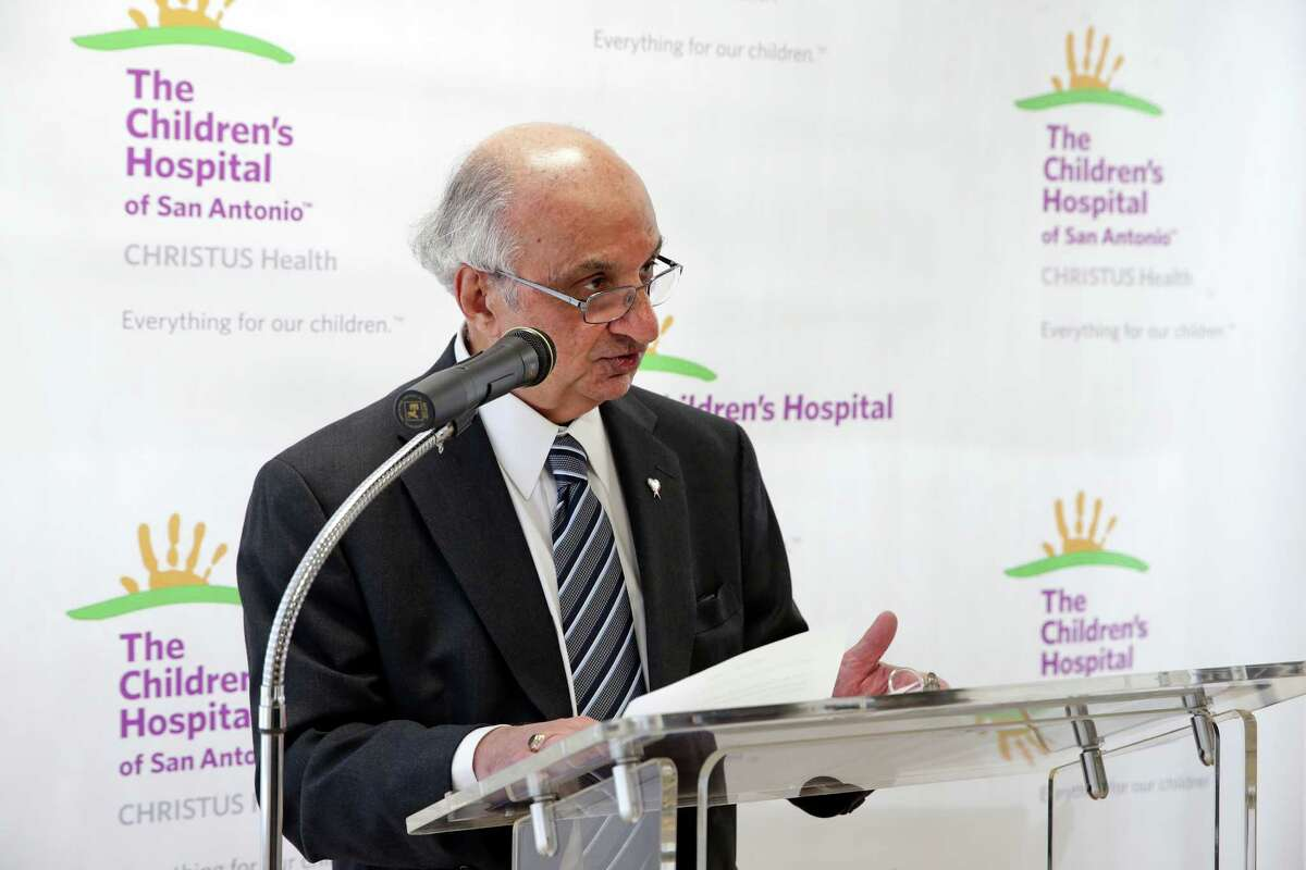 Harvey Najim spoke Friday after the Children's Hospital of San Antonio announced the creation of the Harvey E. Najim Blood and Marrow Transplant Center. Najim donated $1.5 million to the hospital in November to support starting a bone marrow transplant program at the hospital.