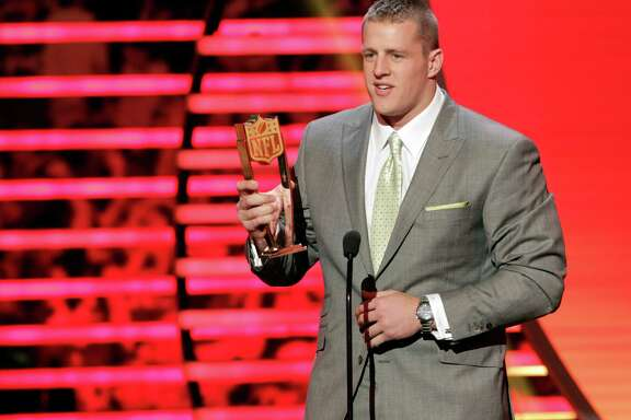 If J.J. Watt wins the NFL Defensive Player of the Year Award today, he'll be the second player to do so three times.