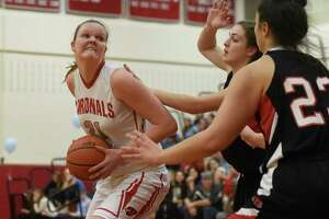 Greenwich's Abbie Wolf scored her 1,000th point - Photo