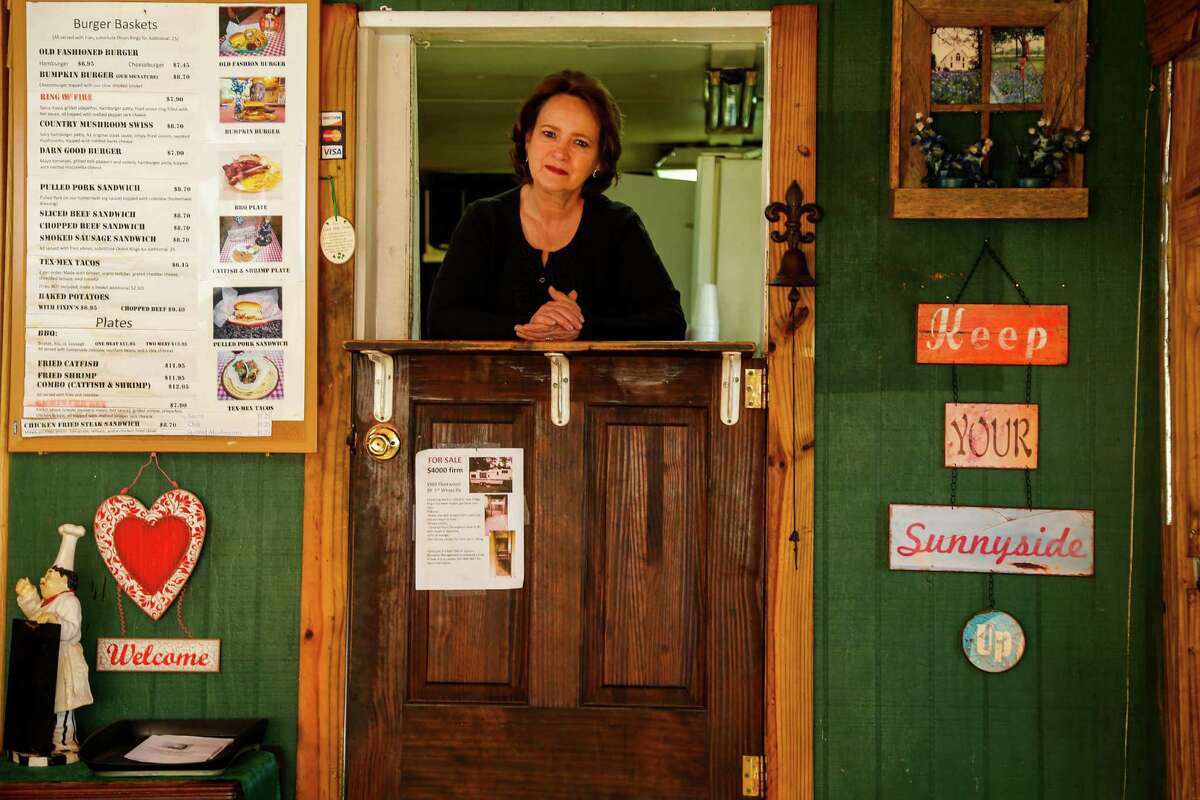 Delores McAdoo is considering expanding business at her Country Bumpkins Cafe, which sits about a half-mile from the new section of the Grand Parkway near Tomball.