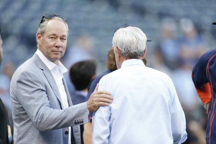 Houston Astros owner Jim Crane shown during batting practice before the start Game One of the American League Division Series at Kauffman Stadium on Thursday, Oct. 8, 2015, in Kansas City. ( Karen Warren / Houston Chronicle )