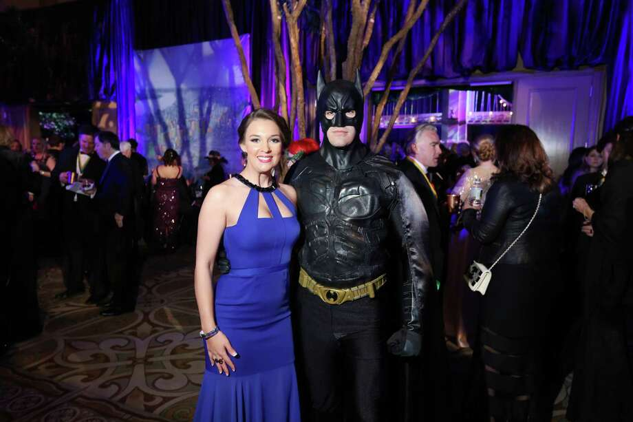 Jessica Jones and Joshua Tetreaultwere amongabout 1,000 guests at Paige and Tilman Fertitta's 2016 San Luis Salute in Galveston Friday night. The event paid tribute to Gotham City. Photo: Jon Shapley, Houston Chronicle / © 2015  Houston Chronicle
