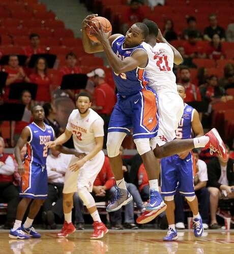 Houston Baptist senior guard Anthony Odunsi is the Southland Conference's fourth-leading scorer with 17 points per game. Photo: Thomas B. Shea / © 2014 Thomas B. Shea