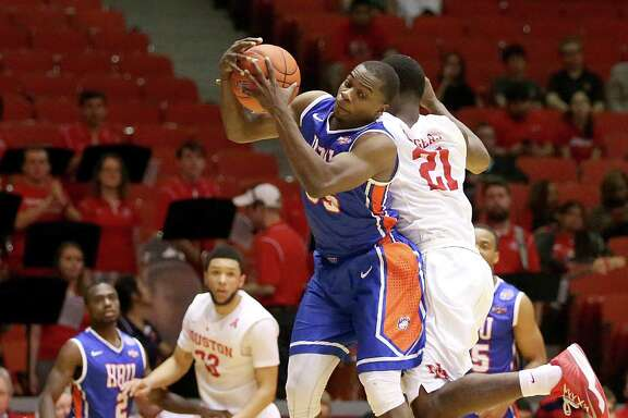 Houston Baptist senior guard Anthony Odunsi is the Southland Conference's fourth-leading scorer with 17 points per game.