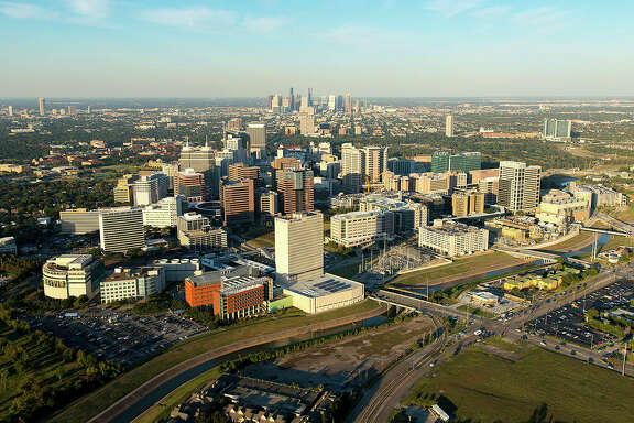 The Texas Medical Center spans 1,345 acres southwest of downtown. It has 106,000 employees and ranks right behind Philadelphia and Seattle as the eighth-largest business district in the country.