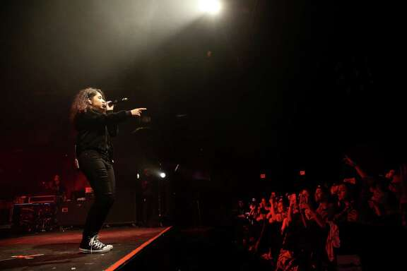 """Alessia Cara performs at Warehouse Live on Friday, Feb. 5, 2016, in Houston as part of her Know-It-All tour. The 19-year-old Canadian's song """"Here"""" reached the top-5 in the U.S. charts."""