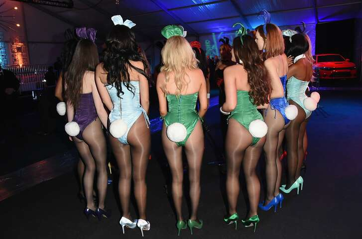 SAN FRANCISCO, CA - FEBRUARY 05:  Playmates attend The Playboy Party during Super Bowl Weekend, which celebrated the future of Playboy and its newly redesigned magazine in a transformed space within Lot A of AT&T Park on February 5, 2016 in San Francisco, California.  (Photo by Jason Merritt/Getty Images for Playboy)