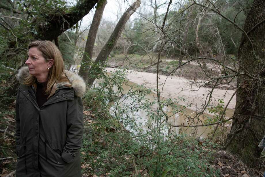 Dorothy Simons stands near Arenosa Creek on her family ranch near Inez in December. She is concerned about runoff from sewage sludge spread on her neighbor's land going into the creek. Photo: Carolyn Van Houten /San Antonio Express-News / 2016 San Antonio Express-News