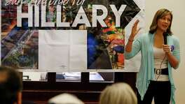 Hillary for America national political director Amanda Renteria rallies supporters for Democratic presidential candidate Hillary Clinton who gathered to block walk and make calls to voters for the upcoming March 1 Primary on the Westside on Saturday, Feb. 6, 2016. Also in attendance were Congressman Joaquin Castro, Leticia Van de Putte. (Kin Man Hui/San Antonio Express-News)
