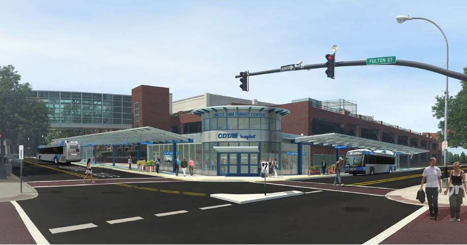 A rendering of the proposed CDTA transit hub in Troy. (Image provided by CDTA)