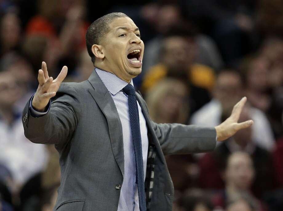 Under Tyronn Lue, the Cavaliers have averaged 94.6 possessions per 48 minutes, below the 95.1 they averaged under David Blatt. Photo: Tony Dejak, Associated Press