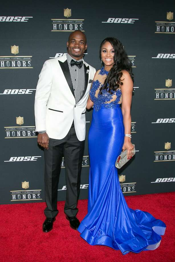 Minnesota Vikings Adrian Peterson, pictured at the red carpet during the NFL Honors event, Saturday, Feb. 6, 2016, at the Bill Graham Civic Auditorium in San Francisco, Calif. Photo: Santiago Mejia, Special To The Chronicle