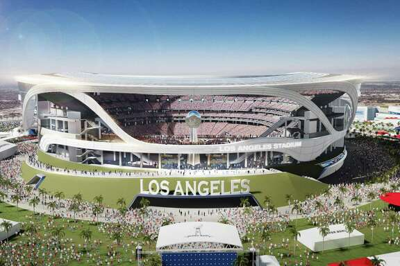 An image provided by Manica Architecture shows a rendering of a proposed NFL football stadium in Carson, Calif. An NFL committee exploring moving teams to Los Angeles has recommended the combined stadium proposal for Carson involving Oakland and San Diego over St. Louis owner Stan Kroenke's ambitious plan for another venue, a person with knowledge of the vote said Tuesday, Jan. 12, 2016. (Manica Architecture via AP) NO SALES