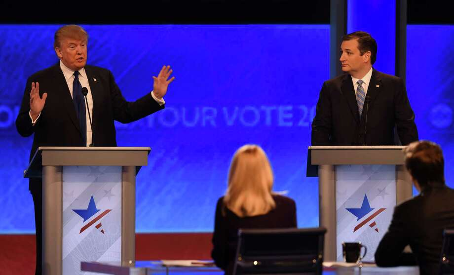 Republican presidential candidates Donald Trump (L) and Ted Cruz (R) participate in the Republican Presidential Candidates Debate on February 6, 2016 in Manchester, New Hampshire. Take a look at 15 things you may not have known about Donald Trump.  Photo: JEWEL SAMAD, AFP / Getty Images / AFP or licensors