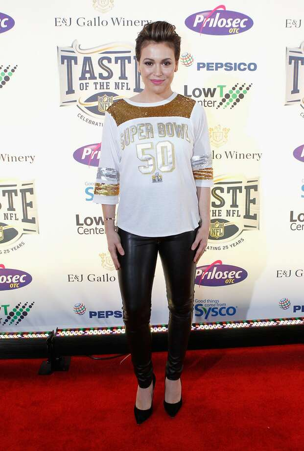 """Actress Alyssa Milano started a social media movement Sunday, inviting survivors of sexual harassment or assault to tweet, """"#MeToo.""""Above: Milano attends Taste of the NFL 25th anniversary Party With A Purpose at Cow Palace on February 6, 2016 in San Francisco, California. Photo: Kimberly White, (Credit Too Long, See Caption)"""