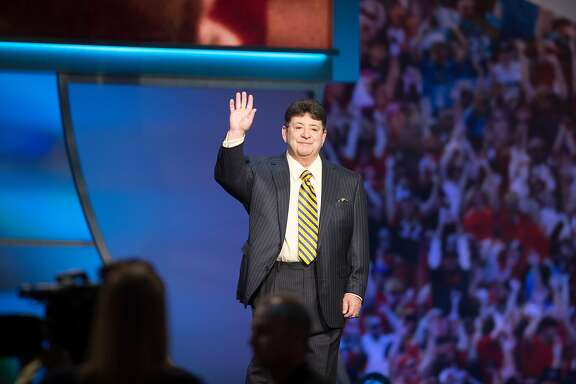 Former 49ers owner Eddie DeBartolo is elected to the Pro Football Hall of Fame during the NFL Honors, Saturday, Feb. 6, 2016, at the Bill Graham Civic Auditorium in San Francisco, Calif.