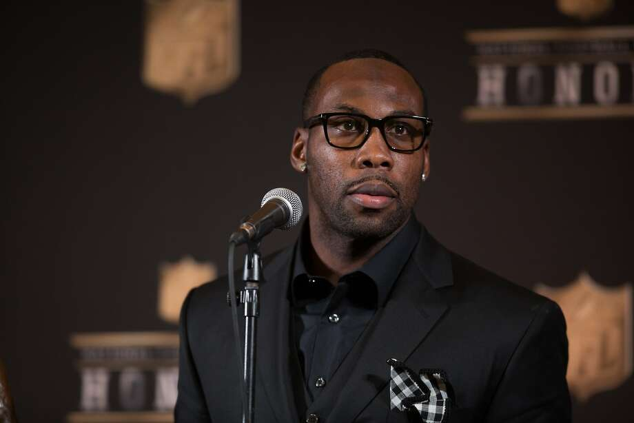 Former 49ers wide receiver Anquan Boldin speaks to members of the media after being named the Walter Payton Man of the Year during the NFL Honors, Saturday, Feb. 6, 2016, at the Bill Graham Civic Auditorium in San Francisco, Calif. Photo: Santiago Mejia, Special To The Chronicle