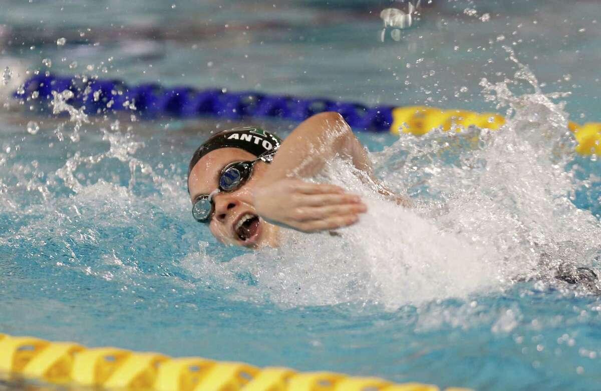 Girls 200 yard Freestyle Sammie Antonacci wins from Reagan High School Region VII-6A swimming championship at Josh Davis Natatorium on February 6, 2016