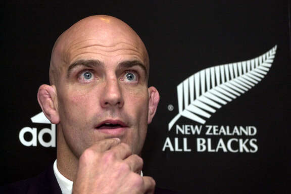 New All Blacks coach John Mitchell reacts during a news conference announcing that he has replaced Wayne Smith in Wellington, New Zealand, Wednesday, Oct. 3, 2001. Mitchell will coach the New Zealand's national rugby team through to the World Cup in 2003.