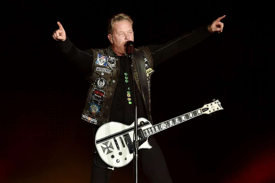 Musician James Hetfield of Metallica performs onstage at CBS RADIO's third annual 'The Night Before' at AT&T Park on February 6, 2016 in San Francisco, California. Photo: Kevin Winter, Getty Images For CBS