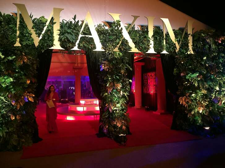 The entrance to the Maxim party Feb. 6 on Treasure Island.