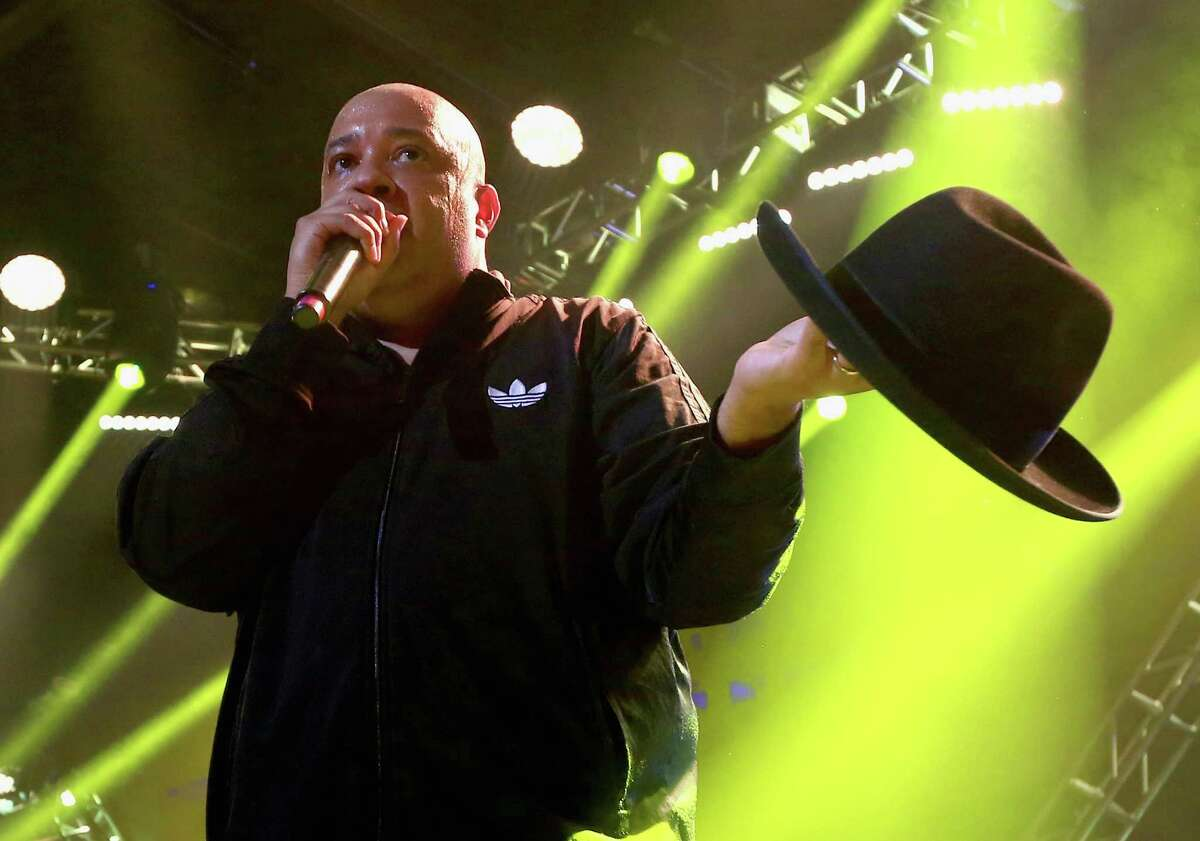 Recording artist Joseph 'Run' Simmons Run-D.M.C. performs onstage during DirecTV Super Saturday Night co-hosted by Mark Cuban's AXS TV at Pier 70 on February 6, 2016 in San Francisco.