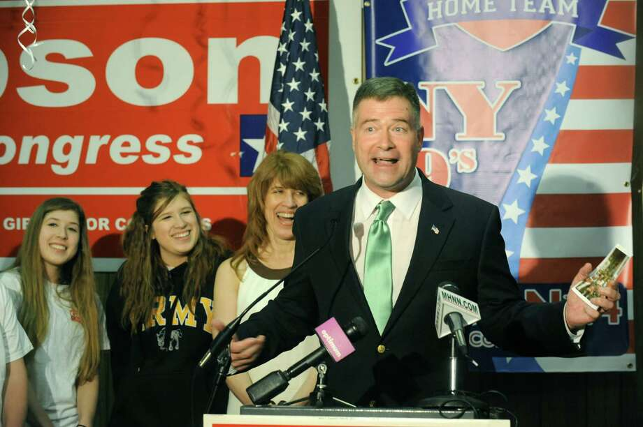 U.S. Rep. Chris Gibson officially launches his re-election campaign at his headquarters on Tuesday April 22, 2014 in Kinderhook, N.Y. (Michael P. Farrell/Times Union) ORG XMIT: MER2014042220024783 Photo: Michael P. Farrell / 00026581A