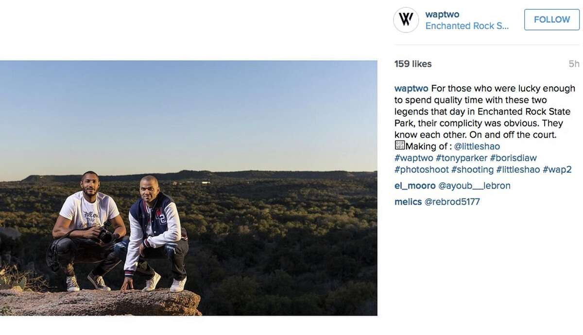 Tony Parker and and another former Spur, Boris Diaw, also once embarked on a photo shoot at Enchanted Rock State Park to model some designs from Wap Two, Parker's clothing and apparel company.